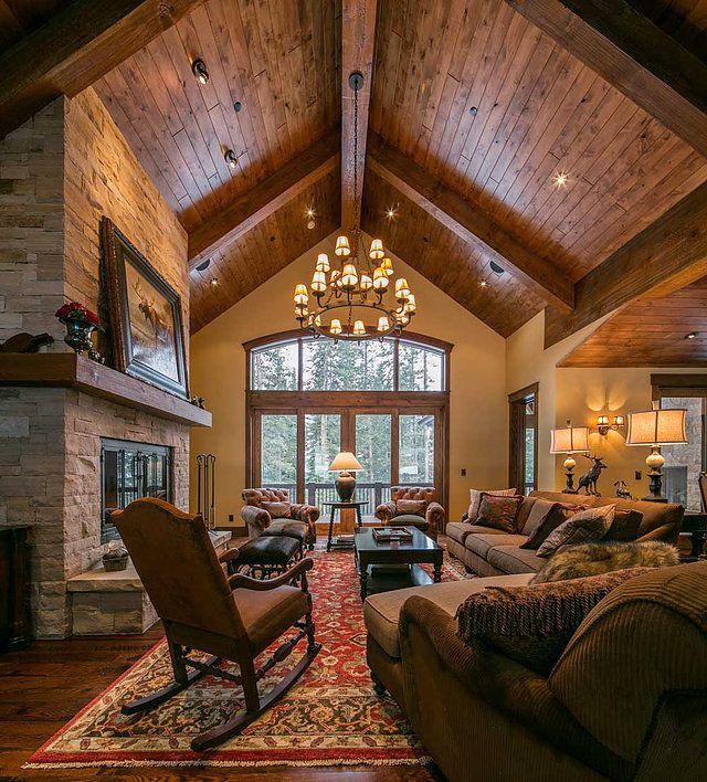Interior design portfolio of blue river mountain home project completed by spider lake trading of breckenridge colorado