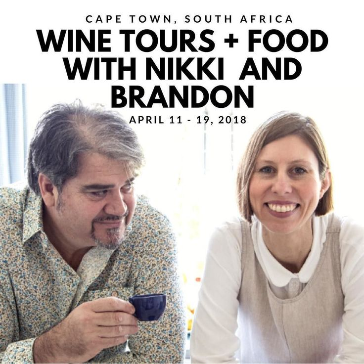 Nikki and Brandon know their stuff live in Cape Town and have arranged for us to visit some of the best wineries in Bot River Stellenbosch and we're going to Constantina Winelands. They will lead cooking demonstrations of South African's classic food - and you'll get their cook.better cookbook dine at some of the best restaurants in Cape Town participate in a Master Craft Gin Tasting at Hope on Hopkins have lunch at Luddite in Bot River...and more...there's always more. You should really…