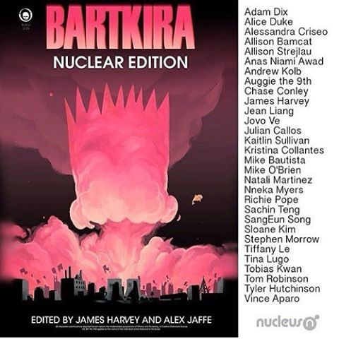 If your in the LA area check out mine and all these other talented artists work at the Bartkira art show @gallerynucleus tonight, Apr 9th at 7-10pm pst #bartkira #akira #gallerynucleus