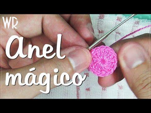 Anel mágico em crochê - (Círculo mágico) - YouTube