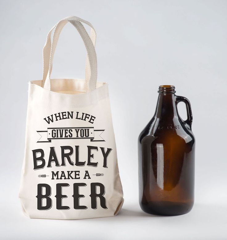 When Life Gives You Barley Beer Growler Bag   Beer Growler Carrier by NSNP