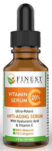 Buy Organic Vitamin C Face Serum with Hyaluronic Acid for an excellent price with Free shipping available. It smooths skin and fights aging.