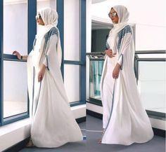 white open abaya