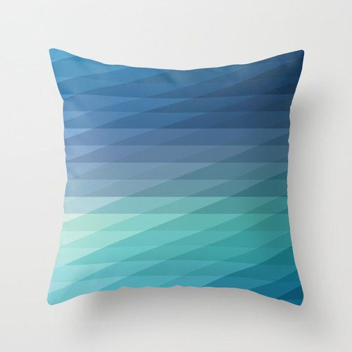 Hey, I found this really awesome Etsy listing at https://www.etsy.com/listing/185522047/18x18-blue-geometric-striped-throw