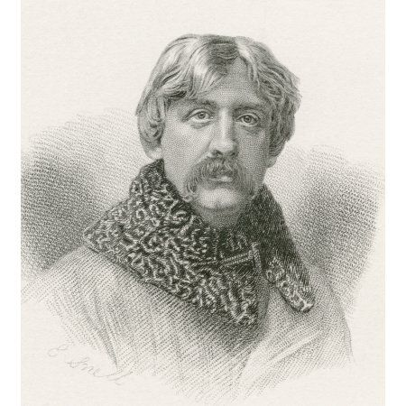 Francis Bret Harte 1836 -1902 American Author And Poet From The Complete Works Of Bret Harte Published 1880 Canvas Art - Ken Welsh Design Pics (13 x 15)