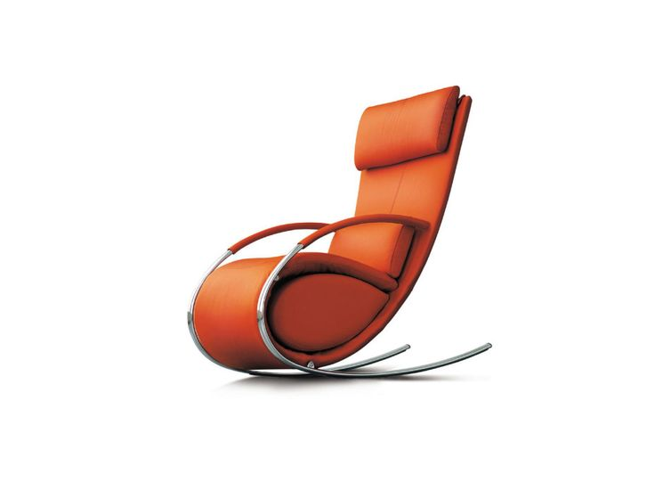 Magnificent Orange Upholstery Faux Leather Chaise Lounge Rocking Chairs With Chrome Metal Curved Legs With Contemporary Furniture Design Plus Furniture Stores of Impressive Latest Furniture Design In Lovely Home Decorating from Furniture Ideas