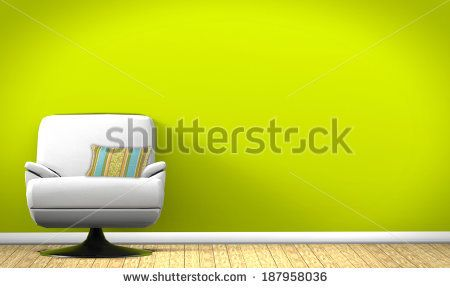 Armchair in the interior - stock photo