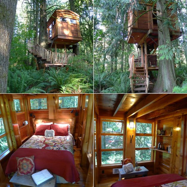 A cozy place for two   17 Tree Houses For Adults