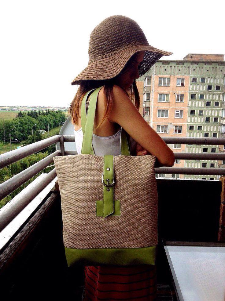 Bag green fabric