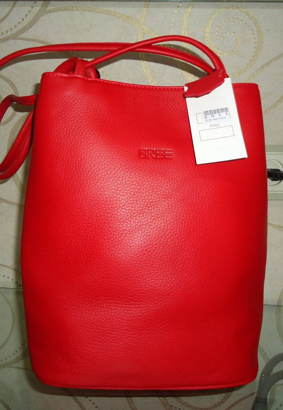 BREE Red Leather backpack soft  Leather bag Leather by Metinbags, $195.00