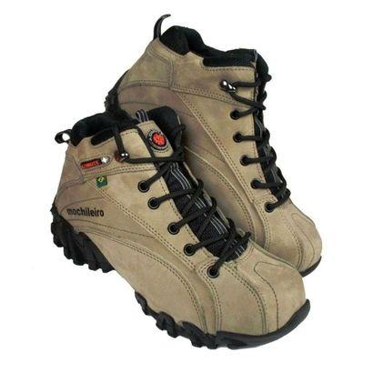 Tênis Adventure Trekking Caminhadas Montanhismo Bege, cano baixo, ideal para montanhismo e esportes radicais, mas também para o dia a dia. Palmilha em gel, anatômica, com cadarço colarinho almofadado   Netshoes