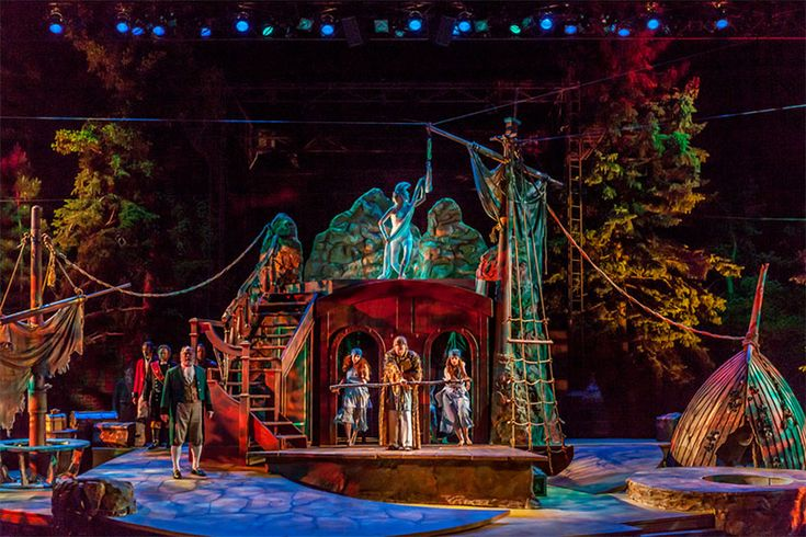 The Tempest. Colorado Shakespeare Festival. Scenic design by Kent Homchick. 2014