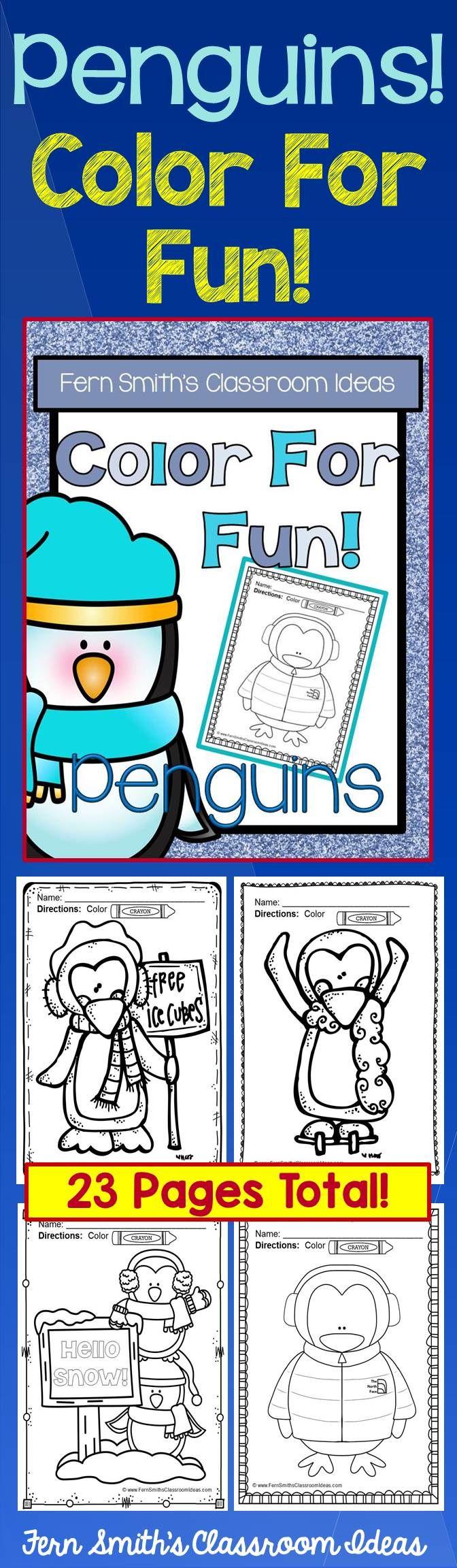 29 best pinguïns images on Pinterest | Penguin coloring pages ...
