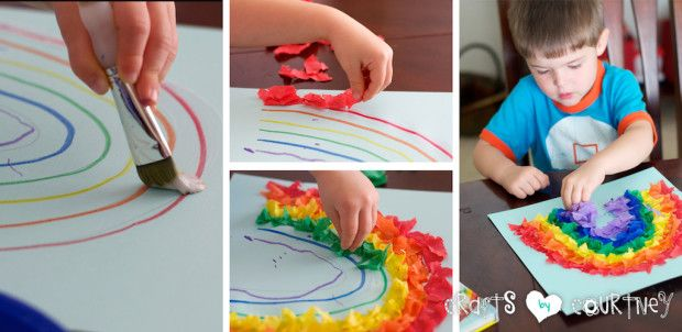 Tissue Paper Rainbow: Create Your Rainbow