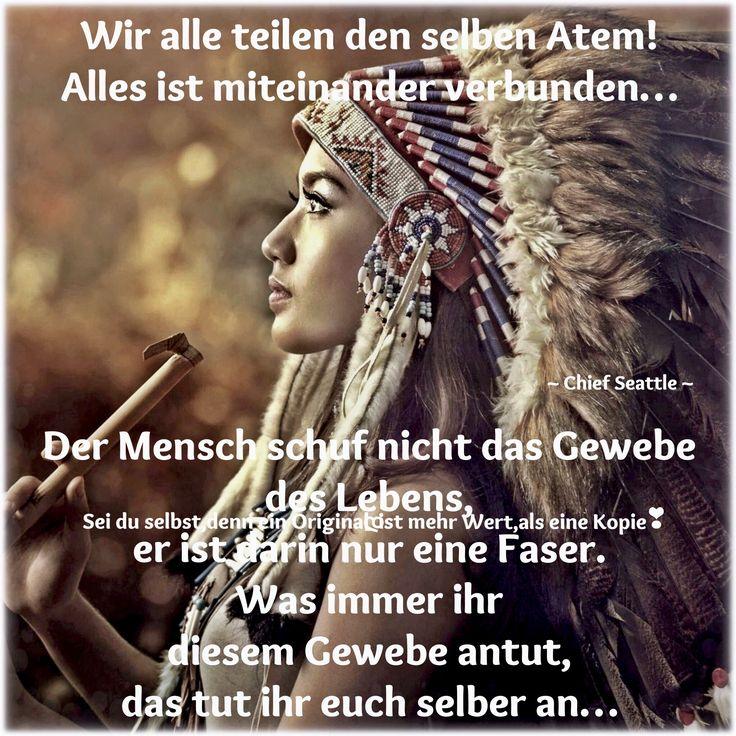 ️༻´`•*   Indianische zitate, Weisheiten leben