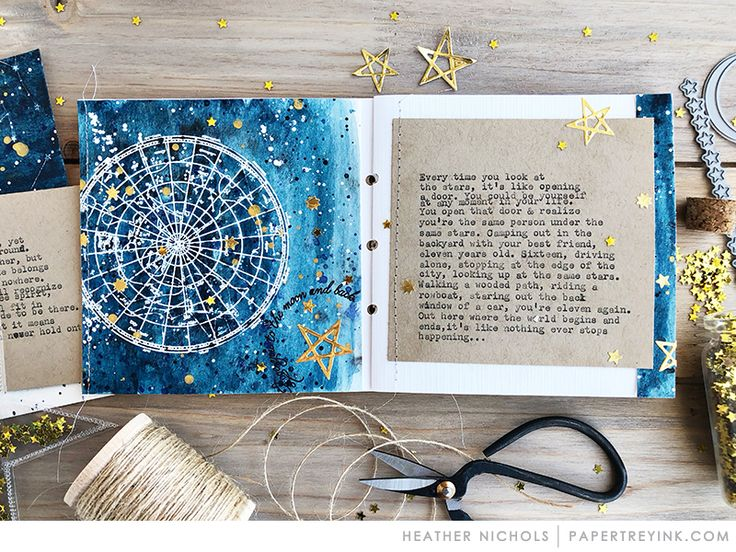 Traveler's Journal: Inspiration by Heather Nichols for Papertrey Ink (March 2018)