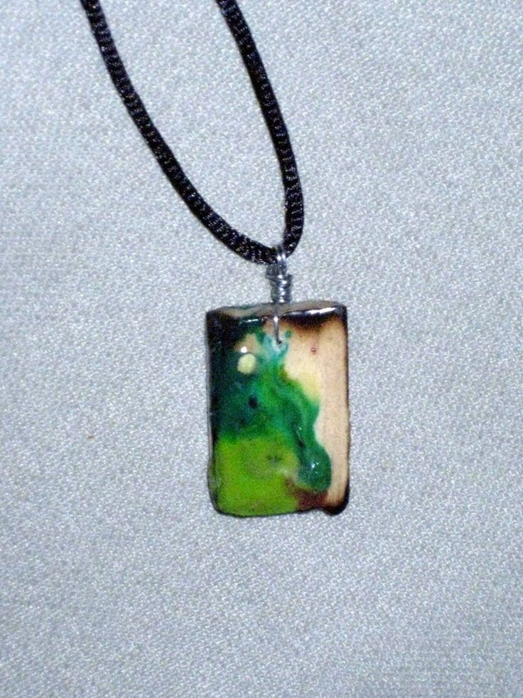 melted crayon pendant
