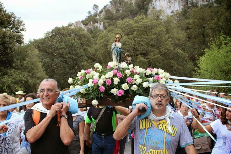Romería subida Font Roja Virgen de los Lirios
