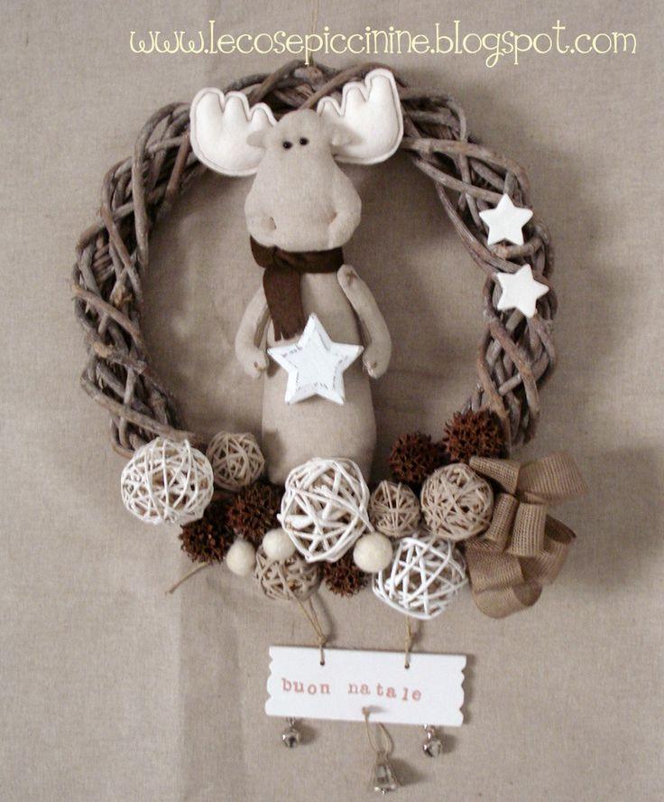 Le cose piccinine: Aspettando il Natale... la prima ghirlanda natalizia del 2012