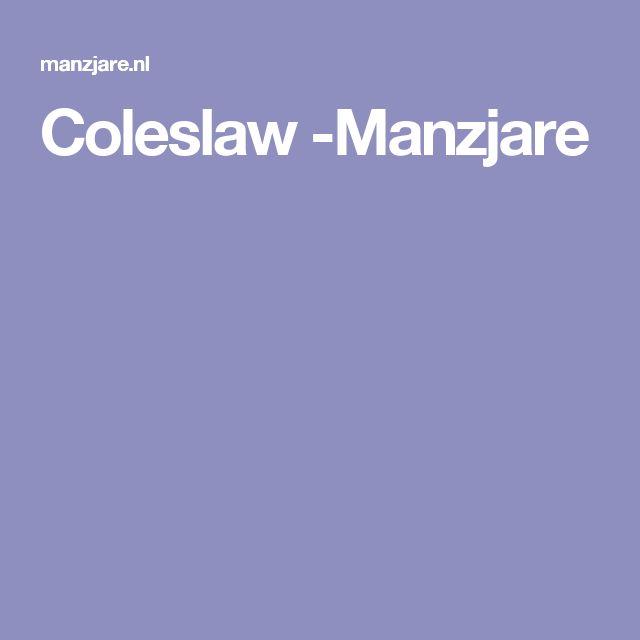 Coleslaw -Manzjare