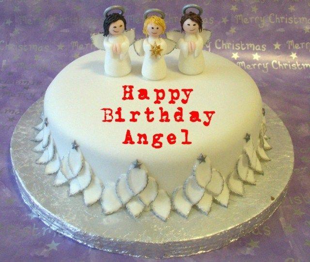 Amazing 24 Best Photo Of Angel Birthday Cake Cool Birthday Cakes Happy Birthday Cards Printable Nowaargucafe Filternl