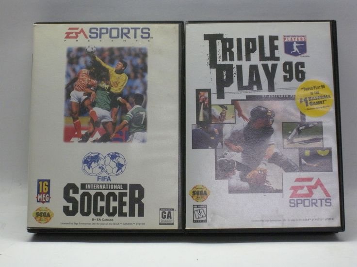 Lot of 2 Sega Genesis Games Fifa International Soccer, Triple Play 96