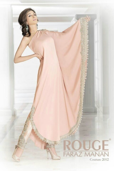 Soft pink salvaar.. Rouge by: Faraz Manan