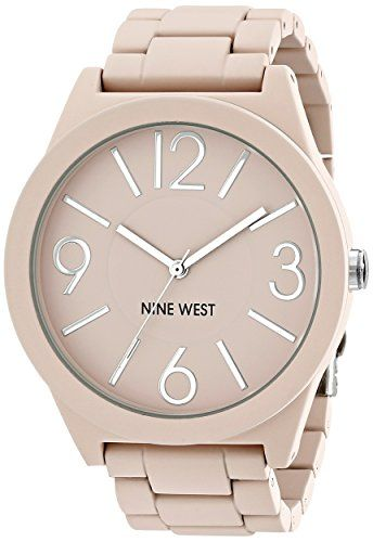 Nine West Women's NW/1678GYRG reloj para mujer con brazalete de goma color rosa mate. Nine West http://www.amazon.com.mx/dp/B00SCSYWME/ref=cm_sw_r_pi_dp_RVuLvb1KY5NAM