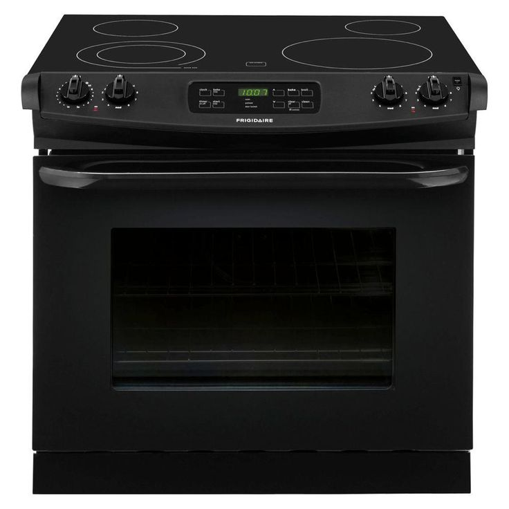 Frigidaire 30 in. 4.6 cu. ft. Drop-In Electric Range with Self-Cleaning in Black