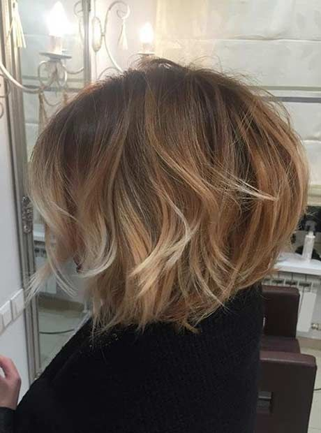 Short, Messy & Layered Bob Cut + Balayage Highlights