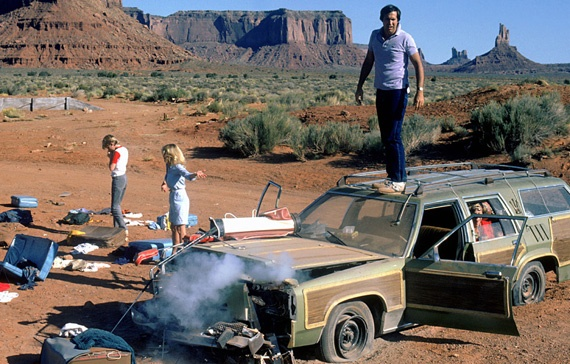 """NATIONAL LAMPOON'S VACATION (1983)  Clark: """"Why aren't we flying? Because getting there is half the fun. You know that.""""      Belligerent pimps, shoeboxes full of pot and an expired aunt are just some of the complications when Chicago dad Clark Griswold takes his family on a trip to Disney-style theme park in LA.    Beverly D'Angelo is cast perfectlly as the long-suffering wife while the couple's kids are probably a couple of the few American brats you don't want to slap."""