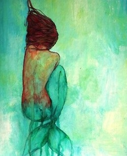 #mermaids #paintings #watercolors ♔ a beautiful thing is never perfect...