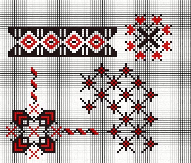 Romanian cross stitch pattern