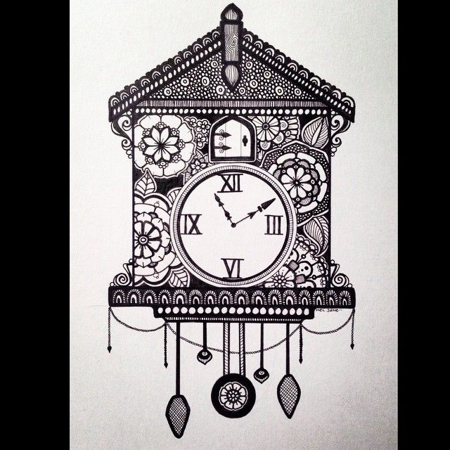 Cuckoo! @the_art_competition #the_art_competition #clock #cuckoo #zen #zenart…
