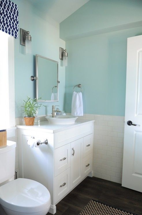 With Navy accents in flooring and shower tile   Light turquoise walls   Benjamin  Moore Palladian. 17 Best ideas about Palladian Blue Bathroom on Pinterest