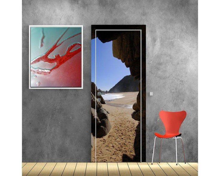 Η κρυφή παραλία, αυτοκόλλητο πόρτας , δείτε το!