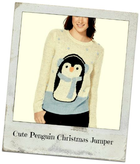 novelty christmas jumpers cute penguin