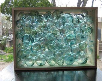 Conjunto de flotadores de pesca Vintage cristal por Shibuikotto