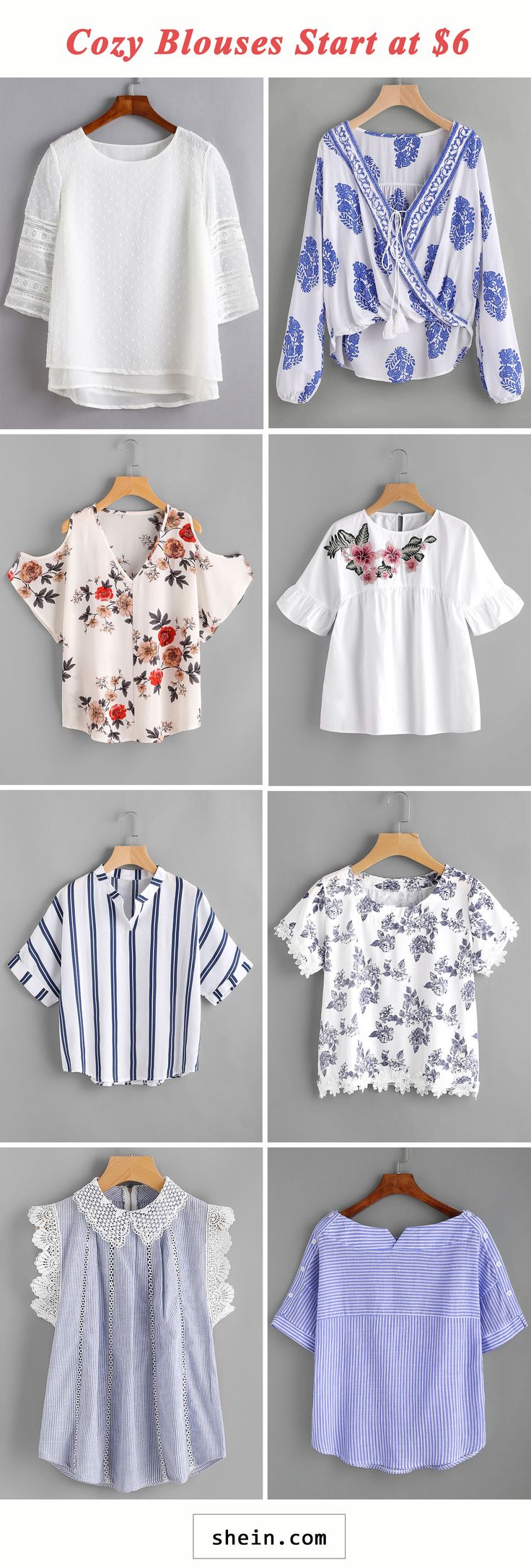 Cozy blouses start at $6!