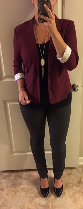 Stitch Fix #9. Liverpool Anita skinny pant and Kensie Rebekah blazer.