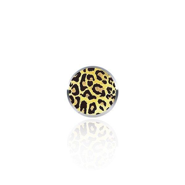 Boule de piercing en acier chirurgical avec imprimé léopard.