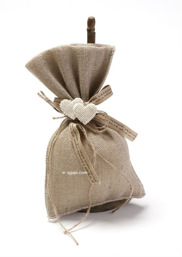 Burlap sack favors wedding bombonieres ideas gift for guests greek handmade burlap wedding guests rustic favors with heart favors sack 10 p by eAGAPIcom on Etsy