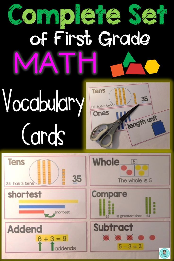 Math Common Core and enVision Program Vocabulary Cards for