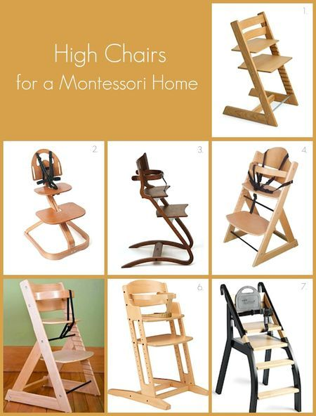High chairs for the child's home, encouraging independence and community. The Stokke Tripp Trapp still is my favorite, though other design (and prices) are now available.