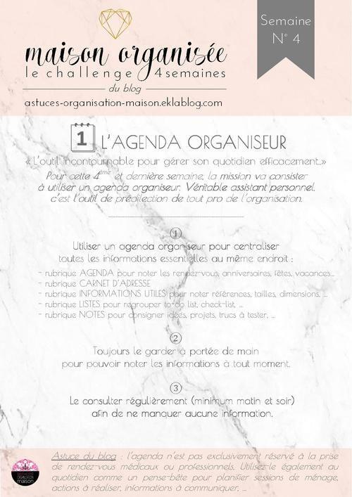 ✿ Maison organisée : le challenge {semaine 4 sur 4}