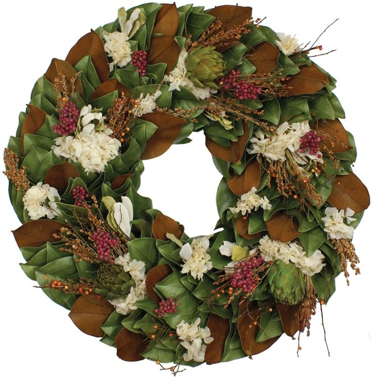 Dried Terracotta Tuscany Thanksgiving Wreath-Available in Four Different Sizes www.wellappointedhouse.com