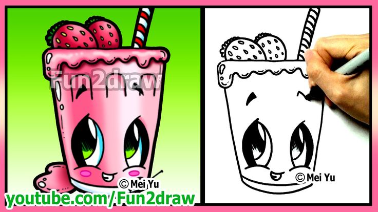 How to Draw Easy Things - Fruit Smoothie + Funny Extra Drawing - Fun2dra...