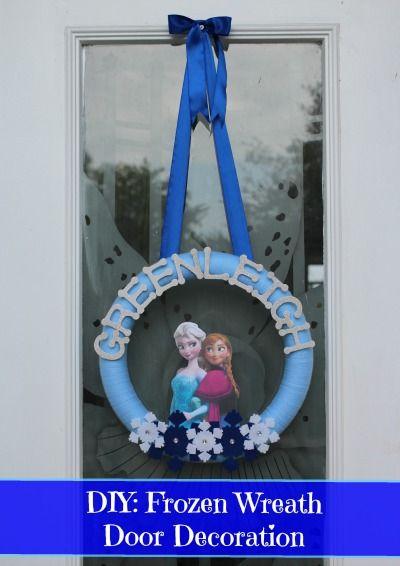 DIY: Anna & Elsa Frozen Wreath - Diary of a Working Mom