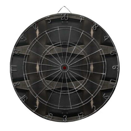Shades Of Gray Classic Charcoal Pattern Dartboard With Darts - black gifts unique cool diy customize personalize