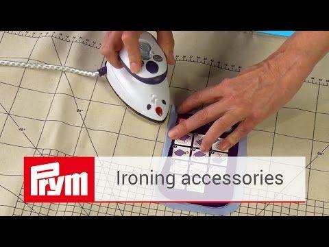 Ironing accessories by Prym   Steam iron MINI & Prym ironing blanket - YouTube